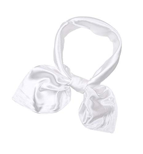 Fashion Solid Colors Classic Square Neck Head Scarf for Men Lightweight (White) ()