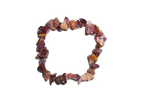 1pc Mookaite Jasper Natural Healing Crystal Chip Gemstone 7 Inch Stretch Bracelet