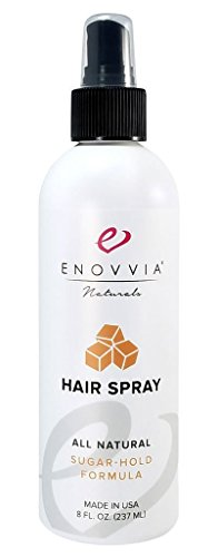 Enovvia All Natural Hairspray, Fragrance Free For Sensitive Skin, Non Aerosol Styling Hold Hair Spray, 8oz