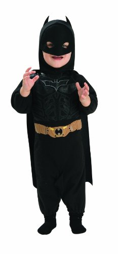 Batman Costume 12 Month Old (Batman The Dark Knight Rises Batman Romper, Multi-Colored, Infant Costume)