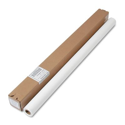 Table Set Plastic Banquet Roll, Table Cover, 40'' x 100ft, White, Sold as 1 Each -