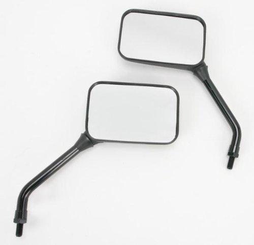 (: Emgo Universal GP Deluxe Rectangular Mirror - 10mm Thread Long Stem - 20-78207)