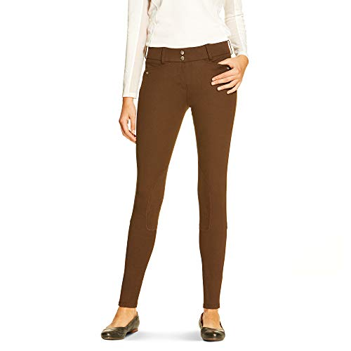 Breeches Ariat (ARIAT Women's Heritage Low Rise Knee Patch Front Zip Knee Patch Breech Espresso Size 24 Regular)