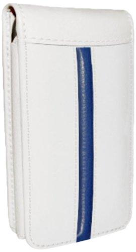 Piel Frama Magnetic - Funda de piel para Apple iPhone 5C, edición Race, blanco/azul