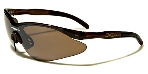 Brown Black de ® hombre Brown sol Loop Lens ® Gafas X para wHq8CxFR