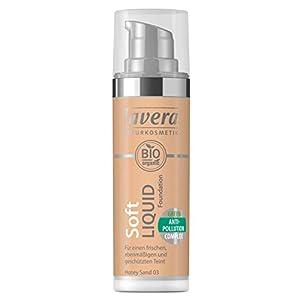 lavera Soft Liquid Foundation -Honey Sand 03- Fond de Teint Fluide ∙ Vegan Cosmétiques naturels Make up Ingrédients…