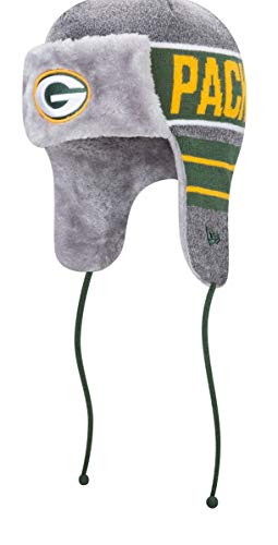 New Era Green Bay Packers NFL Frosty Trapper Fur Lined Knit Hat