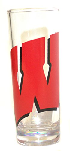 (Boelter Wisconsin Badgers 2 oz Cordial Shot Glass)