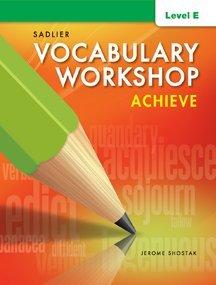 Vocabulary Workshop Achieve Level E Grade 10
