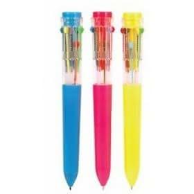 Rhode Island Novelty Ten Color Retractable Pen - Retro Pen