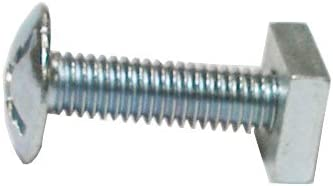 M6 X 35mm PACK OF 50 ZINC /& CLEAR MUSHROOM HEAD ROOFING BOLTS WITH SQUARE NUTS