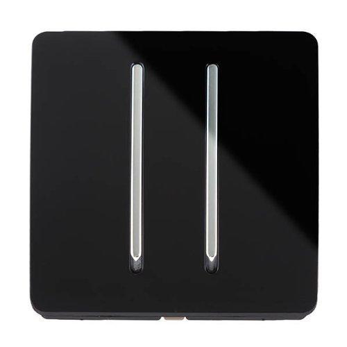 Trendi Switch Switch – Schalter Design – 2 Tasten – 10 Amp – Schwarz ...