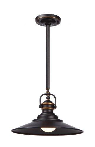Artcraft Lighting Heath Single-Pendant Light, Dark Bronze by Artcraft Lighting
