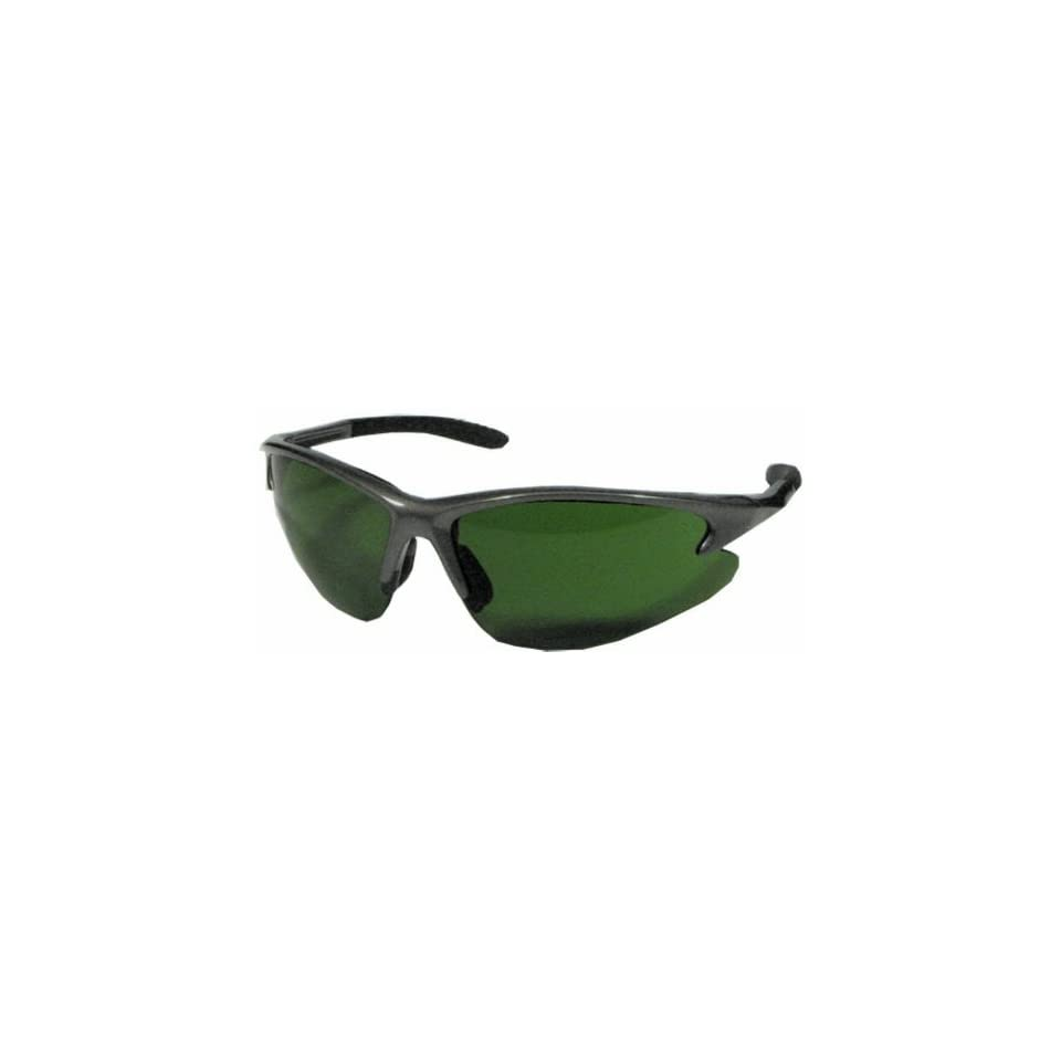 US Safety U97130 Solaris Safety Glasses with Bayonet Temples, Shade 3.0 Lens, Slate Frame (Box of 12)