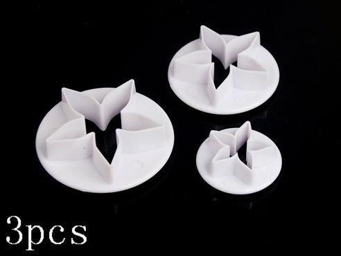 SODIAL(TM) 3pcs Calyx Plunger Cutter Flower Petal Craft Sugarcraft Cake Decorating DIY ()
