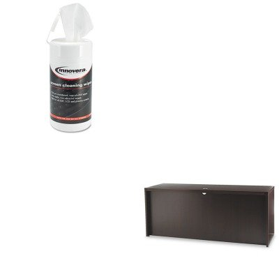 KITIVR51510MLNACD7224LDC - Value Kit - Mayline Aberdeen Series Laminate Credenza Shell (MLNACD7224LDC) and Innovera Screen Cleaning Pop-Up Wipes (IVR51510)
