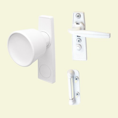 Prime-Line Products K 5121 Tulip Knob Latch Set for Screen or Storm Door, White (Set Knob Latch)
