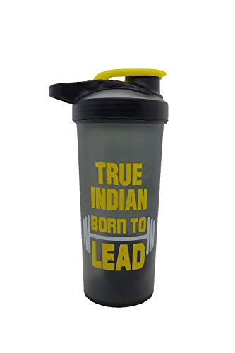 True Indian Special Combo Pack of 2 Gym Shaker and Protein Whey/Shaker Bottle/Protein Shaker Bottle/Gym Bottle/Water… 2021 July ✅MATERIAL: It is made of good grade Acrylic plastic, BPA free and durable in use. ✅FEATURES: Strauss blender bottle, storage container adds storage capacity for powders, pills, supplements and Protective spout cover to keep out dirt, water bottle + shaker for preparation and saving time ✅CAPACITY: - 500ml with 100% leak-proof