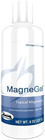 Designs for Health Topical Magnesium Gel - MagneGel, Magnesium Chloride Transdermal Gel (8 Ounces)