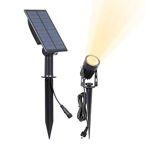 Solar Spotlights, Solar lawn light outdoor garden light, Waterproof LED Lawn Lights, Adjustable Solar Spot Lights, Decorative Garden Spike Light for Patio Yard Pathway, Warm White Solar Outdoor Light