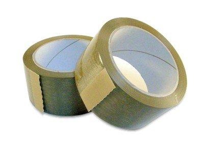 Cinta PP, marrón, 50 mm/66 m, disolvente de caucho pegamento, 6 ruedas: Amazon.es: Hogar