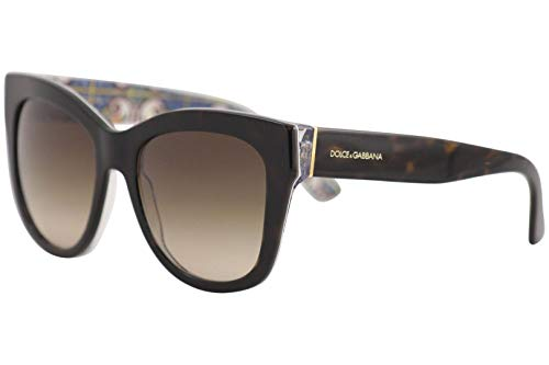 (Dolce & Gabbana Women's 0DG4270 Havana/Brown Gradient 1 One Size)