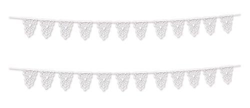 Beistle 00376, 2 Piece Die-Cut Spider Web Pennant Banners, 9.5