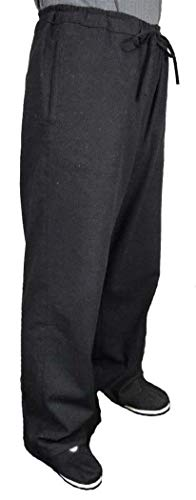 (100% Cotton Black Kung Fu Martial Arts Tai Chi Pant Trousers Tailor Custom Made)