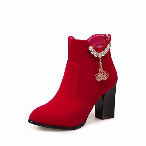 Heel Alto S Tacco Alto Rosso Stivali Size Bottini spesso 36 43 Donne martin Winter Boots Large Gz Women' Del FwOAq1n8