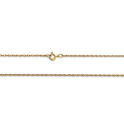 Rembrandt Charms 10K Yellow Gold Lace Baby Shoe Charm on a 10K Yellow Gold Rope Chain Necklace, 20'' by Rembrandt Charms (Image #2)