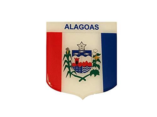 Adesivo Resinado Em Escudo Da Bandeira De Alagoas