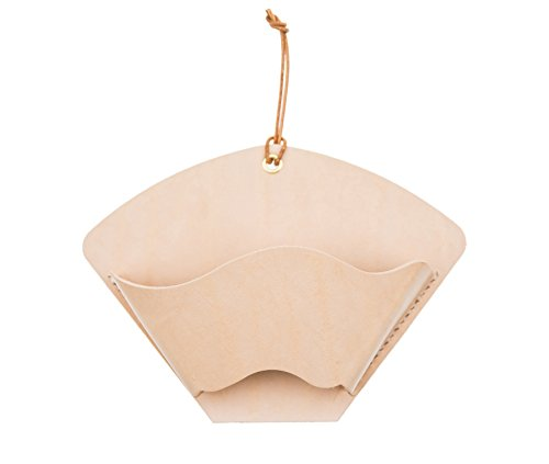 Coffee Filter Holder,SALTY FISH Pure Handmade Vegetable Tanned Leather Storage Box for Coffee Filter Paper (6.89inch4.72inch0.78inch)