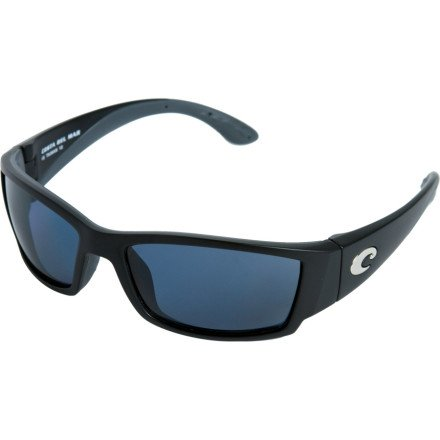 Costa Del Mar Corbina Polarized Sunglasses, Black, Gray 580P, Outdoor Stuffs