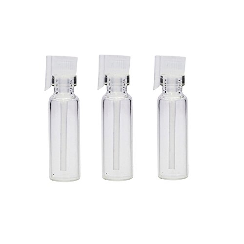 20 Pcs Tiny Mini Clear Glass Perfume Sample Vials Empty Refillable Cosmetic Liquid Aromatherapy Essential Oils Fragrance Bottles Container Jars (2ml) (Sample Tiny Container)