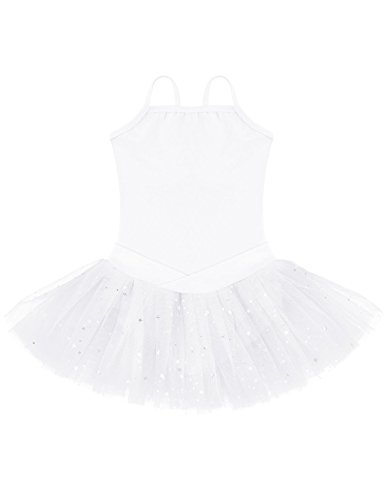 Ephex Girls' Ballet Leotard Dance Dress Tutu (Double Layer Tutu)