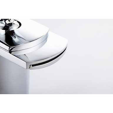 Miaoge Miaoge Miaoge Contemporary Chrome Waterfall One Hole Single Handle Bathroom Sink tap e8d538