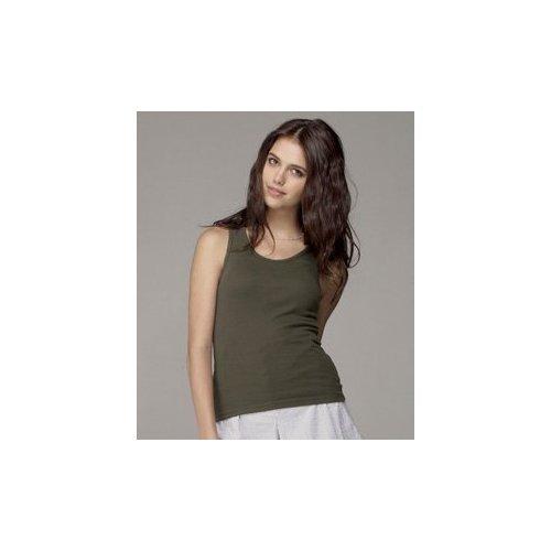 Bella+Canvas Ladies' Baby Rib Tank Top - Navy - M