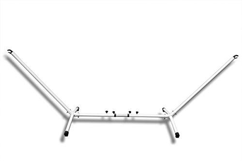 Hängemattengestell Selber Bauen amazon de hängemattengestell variabel weiß 280 340cm breit 105cm hoch