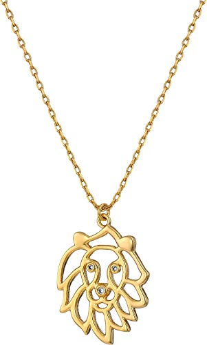 Kate Spade New York Women's Celestial Charm Leo Pendant Necklace Clear/Gold One Size ()