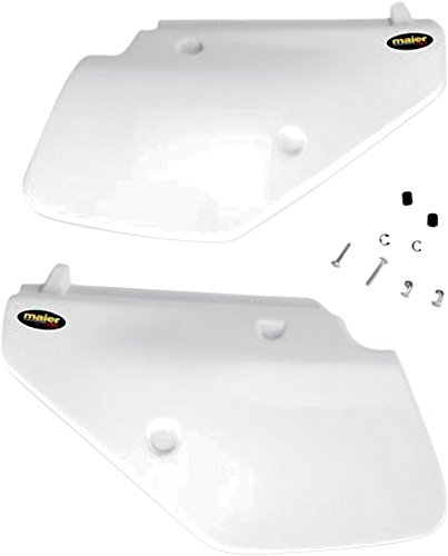 Maier Side Panels White for Suzuki DR 250S 350S 90-99 ()