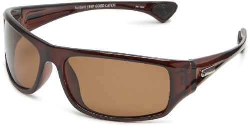 Sunbelt Men's Good Catch Square Sunglasses,Xtal Brown Frame/Brown Lens,one size (Sunglasses Sunbelt)
