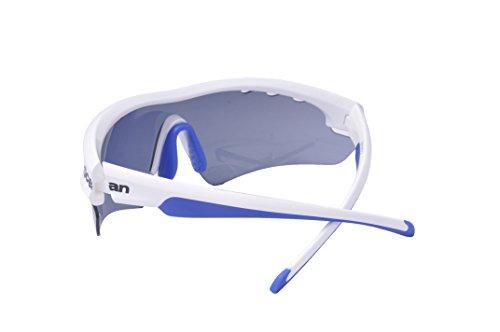 Ocean Sunglasses - Ironman - lunettes de soleil - Monture : Blanc/Bleu - Verres : Fumée (90000.2)
