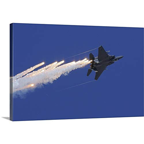 GREATBIGCANVAS Gallery-Wrapped Canvas Entitled an F-15E Strike Eagle Releases Flares by Remo Guidi 48