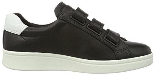 Ecco Damen Soft 4 Sneaker, Schwarz Schwarz (50334 Black / Bianco / Nero)