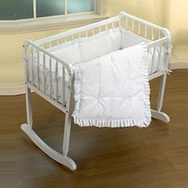 Simplicity Cradle Bedding - Color White - Size 15x33
