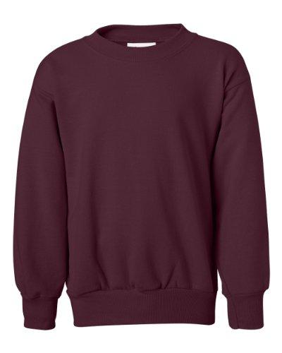 Hanes ComfortBlend EcoSmart Boy`s Crewneck Sweatshirt Maroon