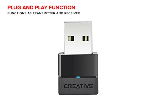 Creative BT-W2 Portable Bluetooth Audio Transceiver with aptX Low Latency for PC, Mac, PS4, and Nintendo Switch by Creative