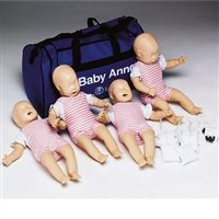 Laerdal 050010 Baby Anne Manikin Model with Soft Pack, of 4