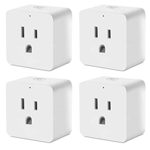 WIFI Smart Plug 4 Pack,LITSPED Smart plugs Work with Amazon Alexa Echo Google Home and IFTTT, Smart Socket,Outlet Remote Control Devices, No Hub Required,UL Complied