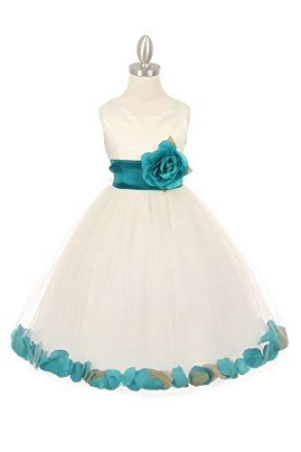 Buy dusty teal dress - 4